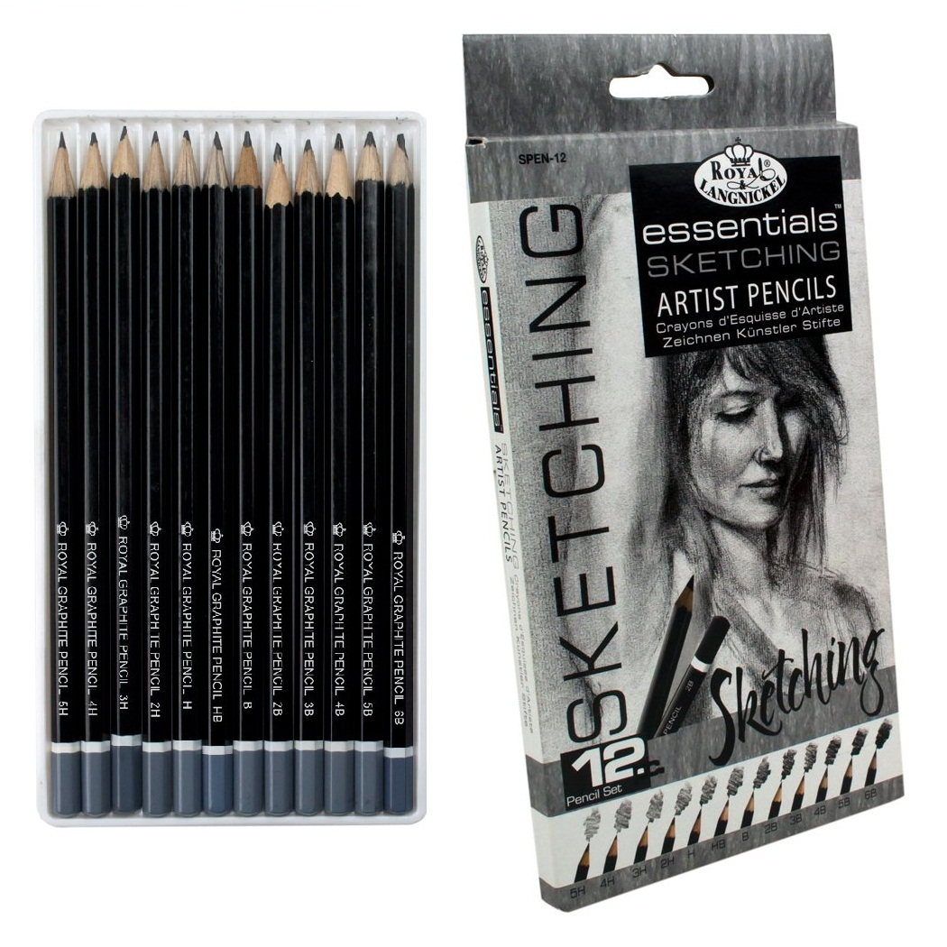 12 Pack Artist Pencils Essential Sketching Lead Pencil