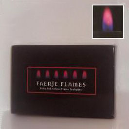 6 x Red Faerie Flames Tealights Candles Tea Lights NEW