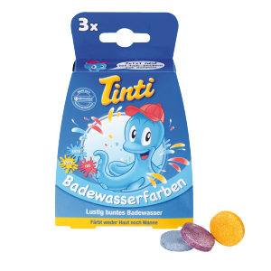 Bath Water COLOURS - TINTI Badewasserfarbe - Box of 3 Tablets