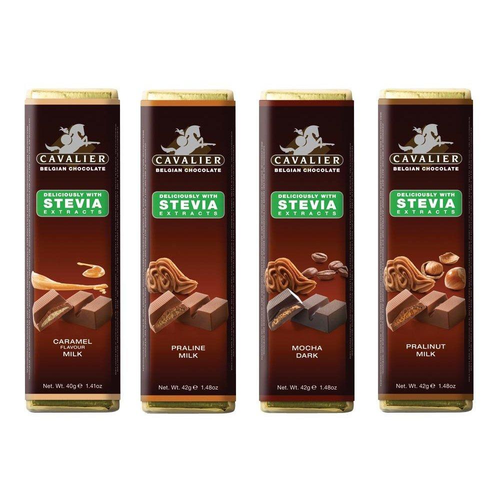 Classic 4 x STEVIA Cavalier No Added Sugar Free Chocolate Pralinut ...