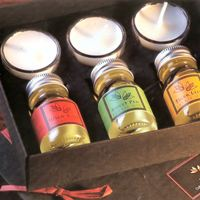 Faerie Therapy Tealights & Massage Oils Gift Box Flames