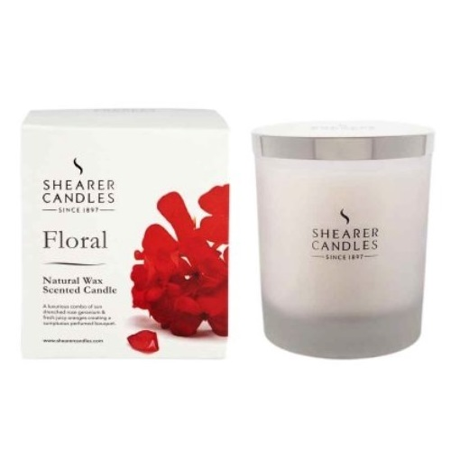 Floral natural spa glass jar gift box shearer scented for Spa smelling candles