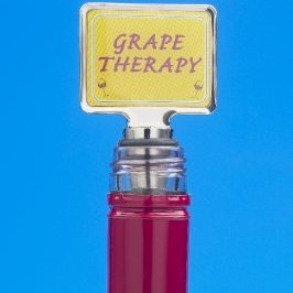 Grape Therapy Funny Novelty Wine Bottle Stopper
