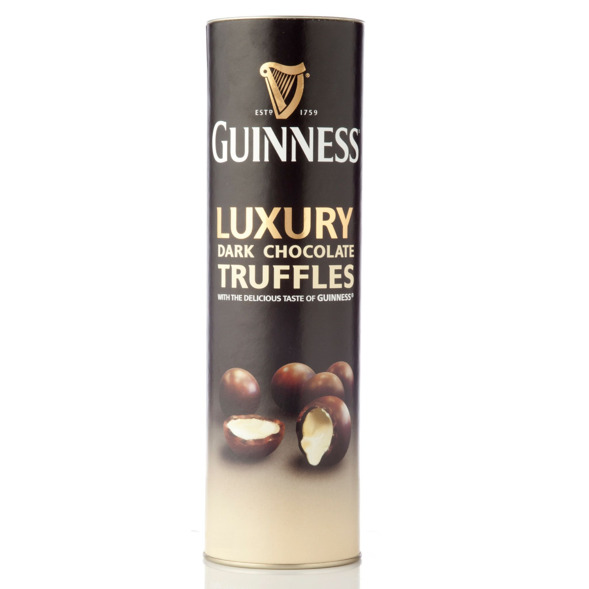 Guinness luxury dark chocolate truffles gift tube lir 320g click to enlarge negle Gallery
