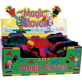 Magic Gloves - Stretchy Stripey One Size Fits All