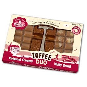 Original Creamy & Nutty Brazil - Walker's Nonsuch Toffee Duo With Hammer 200g