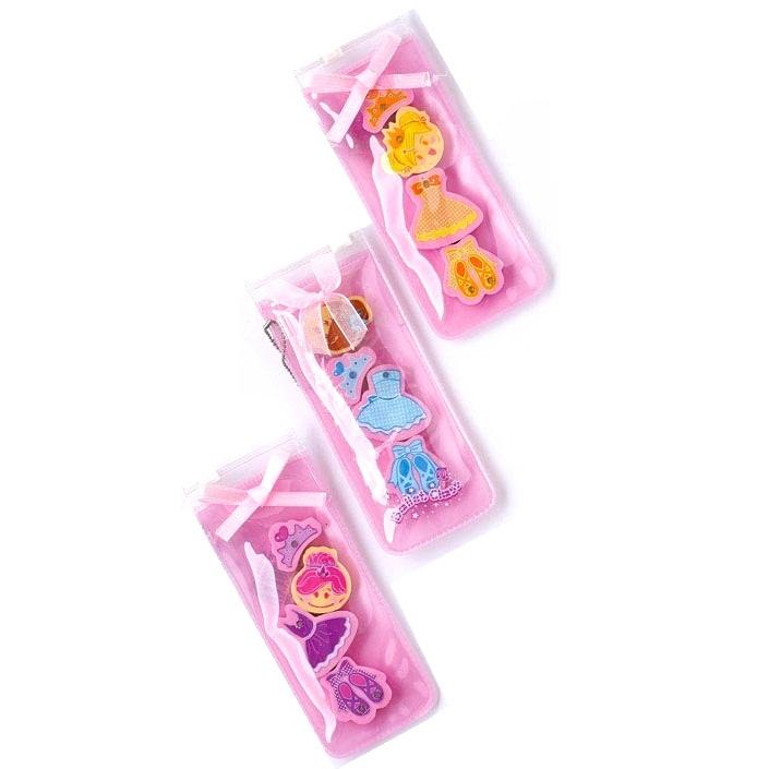 Pink Ballet Class Girls Erasers - Novelty Rubbers - Set of 4