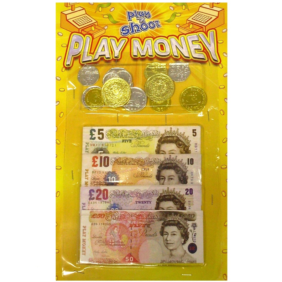 Pretend Toy Money : Pounds play money toy coins notes pretend cash