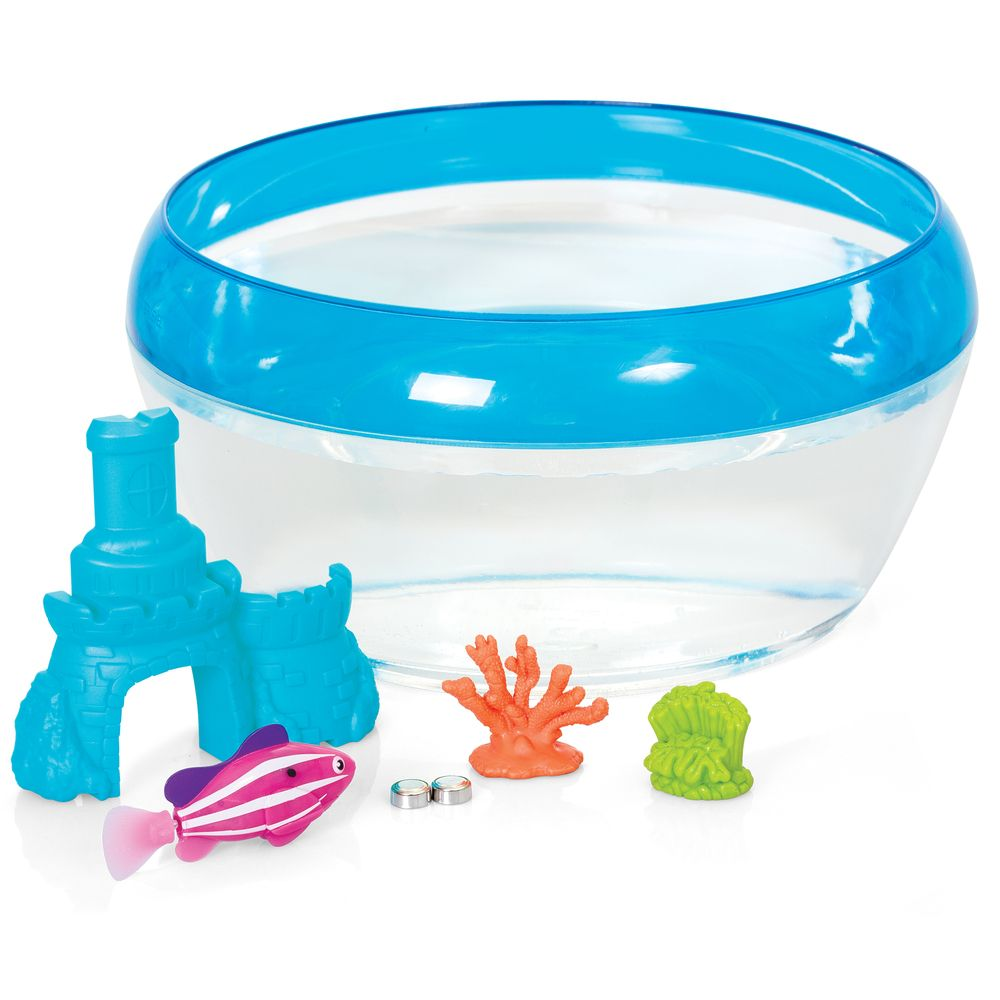 Robo fish castle coral play set fish bowl 1 x robo for Zuru robo fish