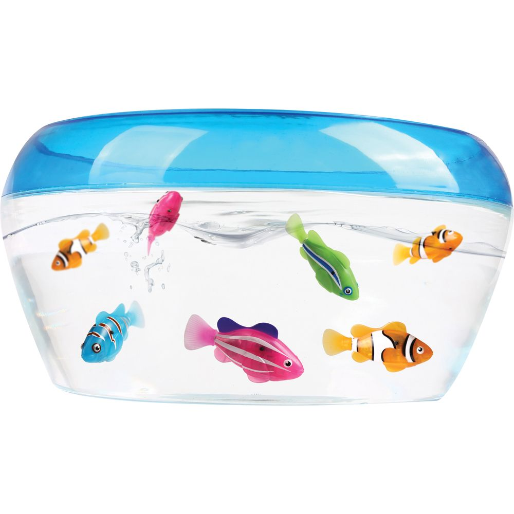 Robo fish play set fish tank 1 x robo fish by zuru for Zuru robo fish