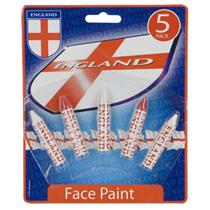 St Georges England FACE PAINTS - Red & White Painting Crayons