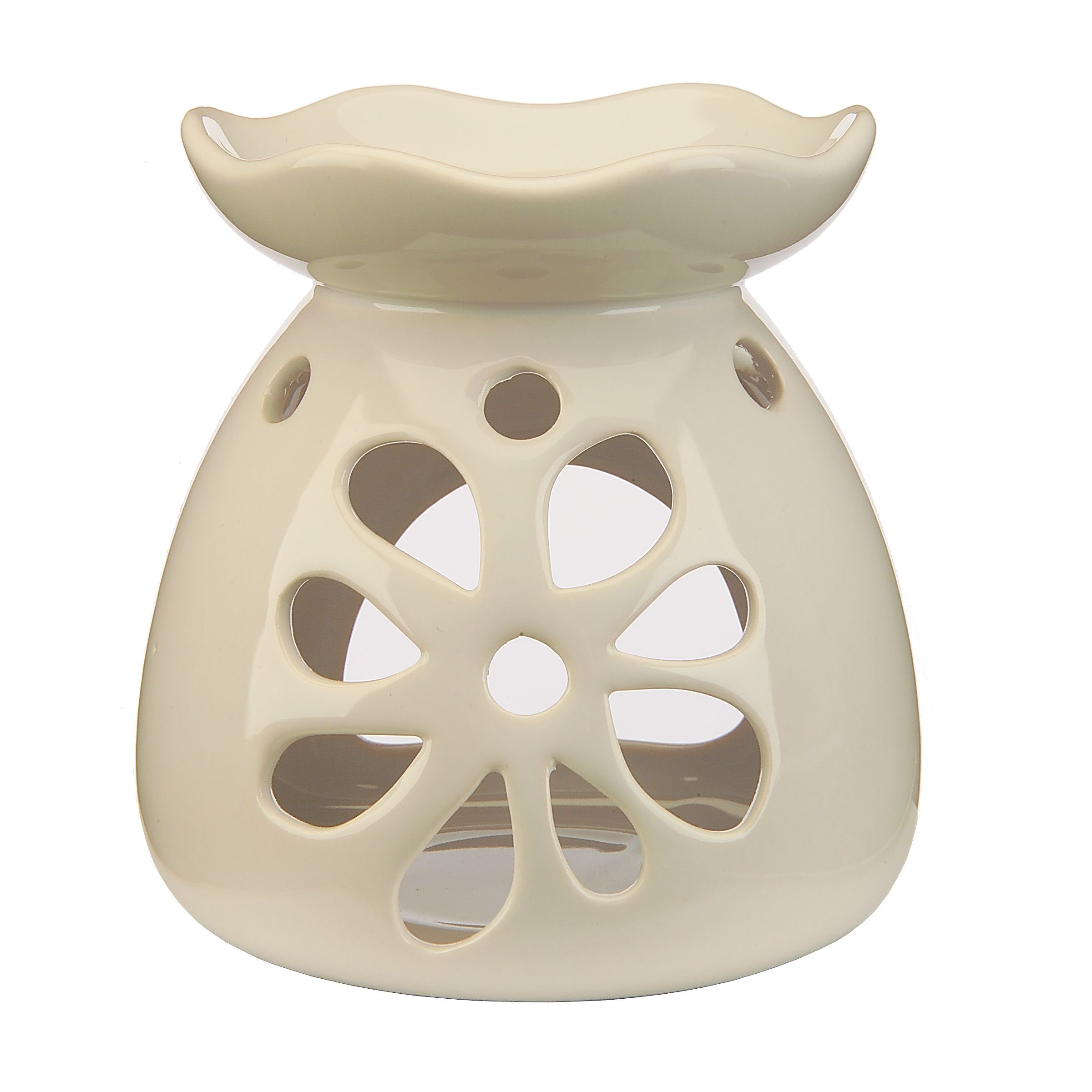 White Ceramic Flower Wax Melts Amp Oil Burner Wax Lyrical