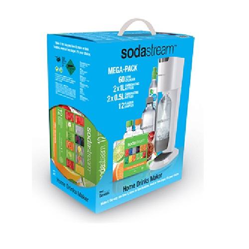 White SodaStream GENESIS Drinksmaker - Mega-Pack Includes 4 ...