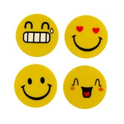 Yellow Smiley Faces - Novelty Erasers Rubbers (Set of 4)