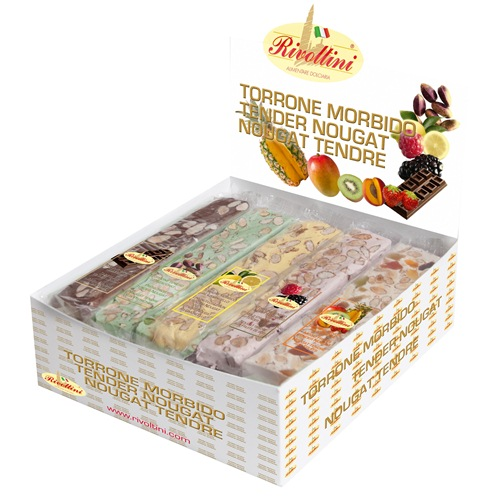 ... Fruits - Italian Soft Nougat With Almond Nuts Rivoltini Italy 100g