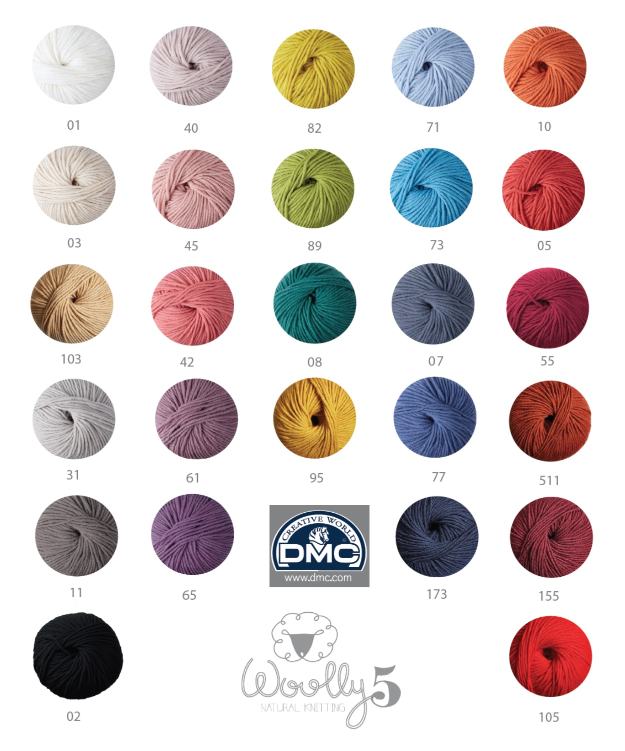 Dmc woolly 5 knitting crochet yarn 100 merino wool 50g dmc woolly 5 shade card nvjuhfo Choice Image