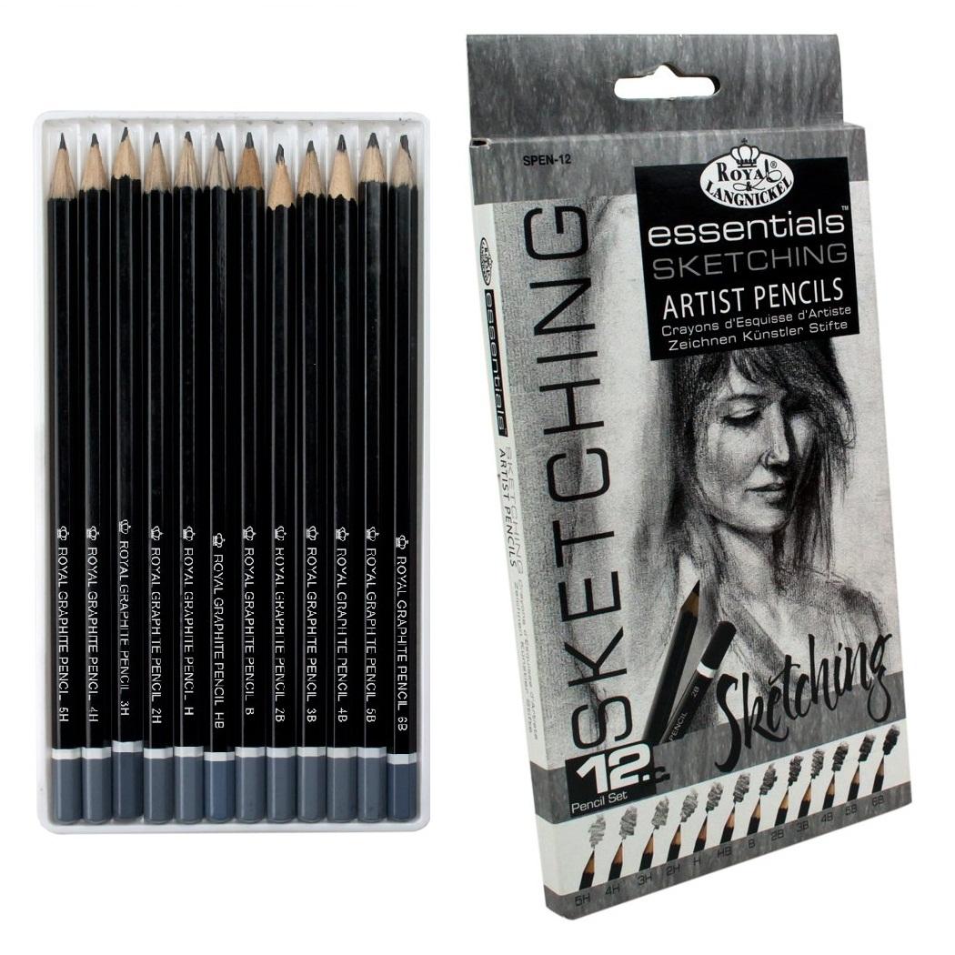 12 Pack Artist Pencils Essential Sketching Lead Pencil