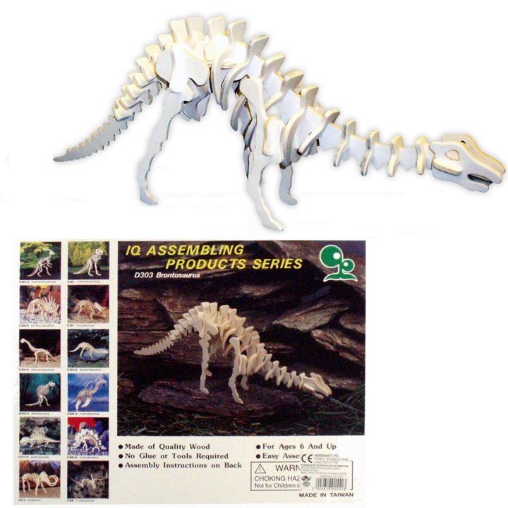 12 x Wooden Dinosaur Assembling Wood Craft Kits Wholesale Bulk Buy
