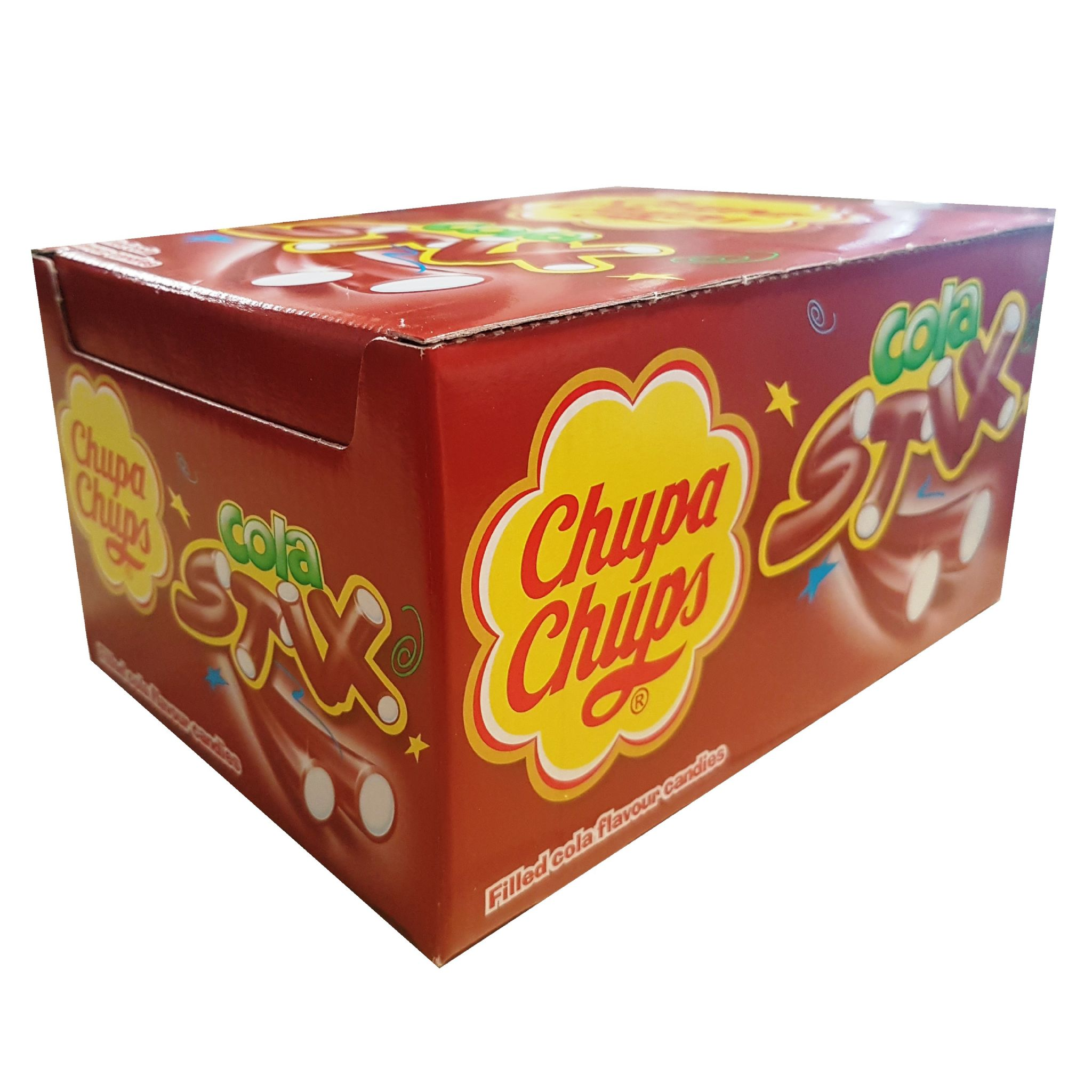 150 X Cola Stix Chupa Chups Fruit Flavoured Sweets Wholesale Box