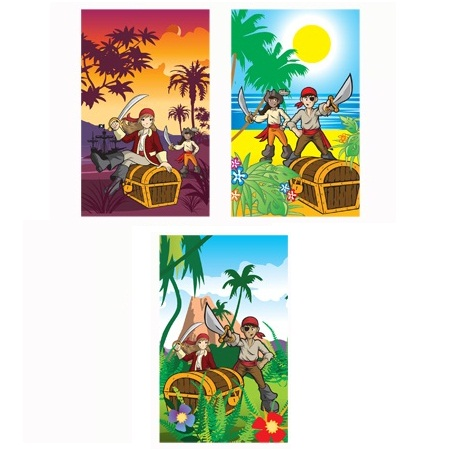 168 x Pirates Notebook Notepad Jotter Party Bag Fillers Wholesale Bulk Buy