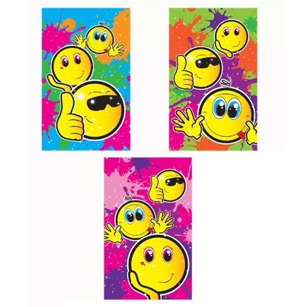 168 x Smiley Face Notebook Notepad Jotter Party Bag Fillers Wholesale Bulk Buy