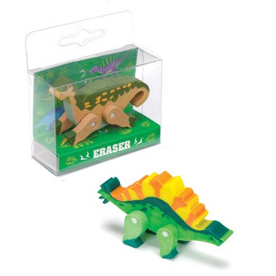 24 x Dinosaur Erasers - Novelty 3D Rubbers - Wholesale Bulk Buy