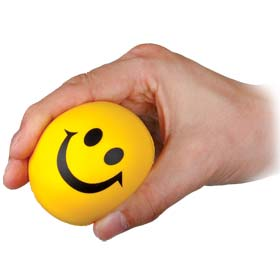 24 x Happy Yellow BALL - Lightweight Foam Bouncy / Stress Ball Wholesale Bulk Buy
