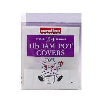 24 x Jam Pot Covers - 1lb Jars
