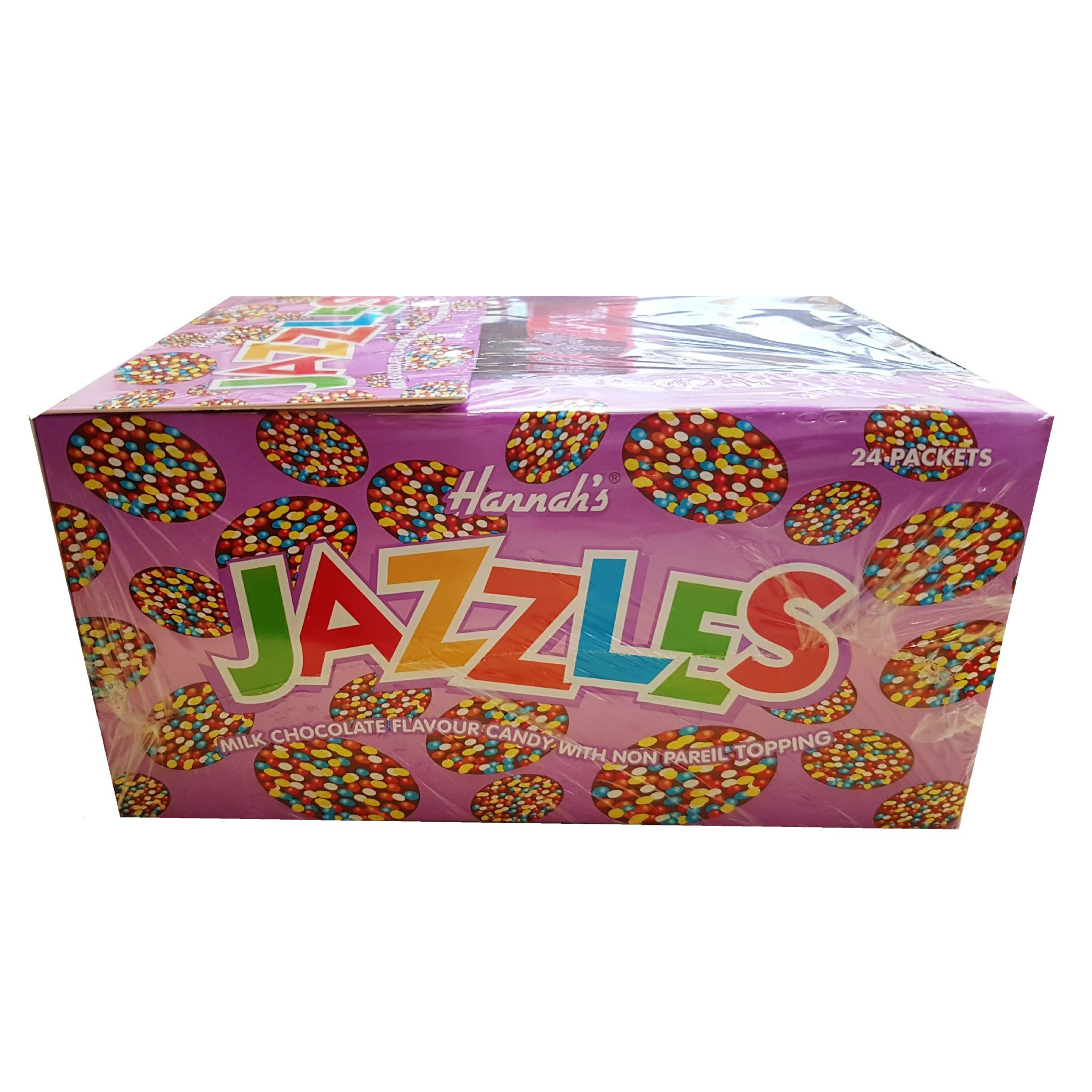 24 X Milk Chocolate Hannahs Jazzles Jazzies Candy Buttons Sweets 40g Wholesale Box