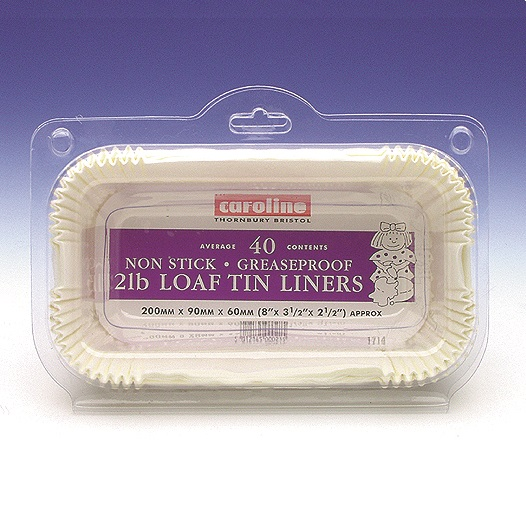 2lb Non Stick Greaseproof Paper Loaf Tin Cake Liners