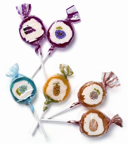 30 x Fun Fruits & Flowers Rock Lollies - Sweets Candy Fruity Lollies