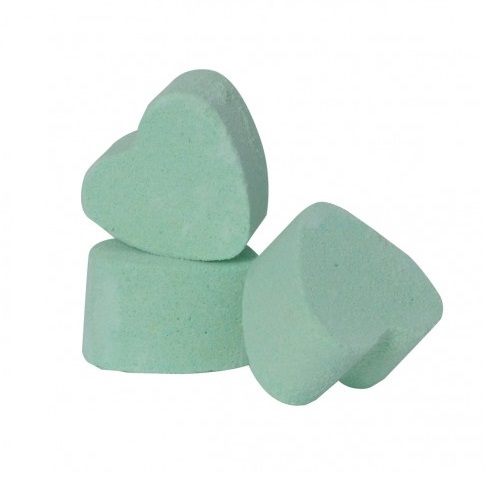 30 x Jasmine Green Mini Bath Hearts Fizzers Bath Bubble & Beyond 10g