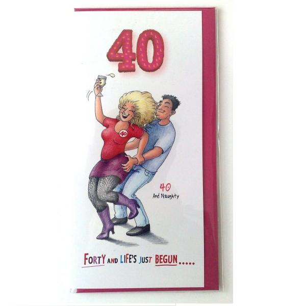 40 For HER Funk Tart Witty Age Birthday Greetings Card 2887 P