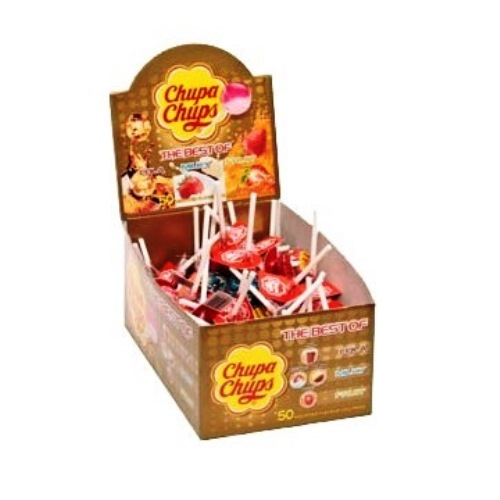 50 x BEST OF Chupa Chups Lolly Sweets Lollies 12g Each Wholesale Box