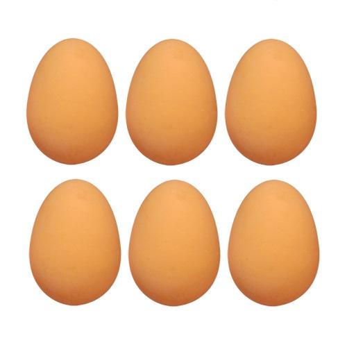 6 X Bouncy Egg Rubber Balls Fake Eggs Easter Party Bag