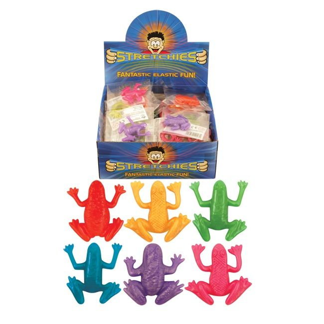 84 x Stretchy Frogs - Stretchies Party Bag Fillers Favours Toys - Wholesale Bulk Buy