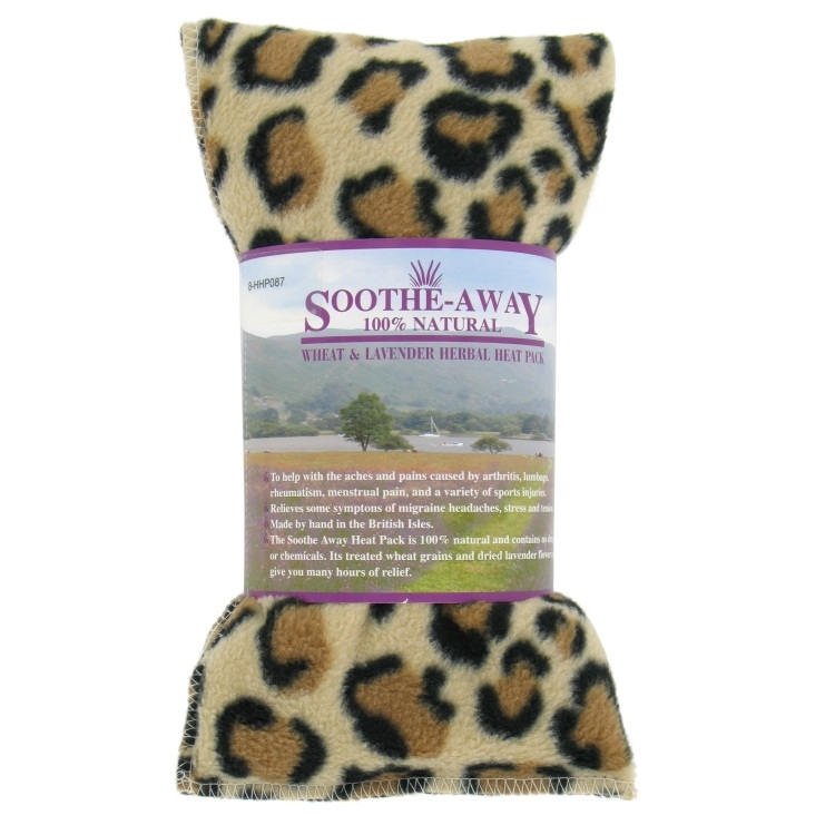 ANIMAL PRINT Tiger Lavender Herbal Heat Wheat Bag Hot & Cold Pack