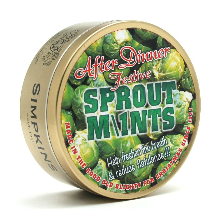 After Dinner Sprout Mints - Festive Limited Edition Simpkins Traditional Travel Sweets Tin 200g