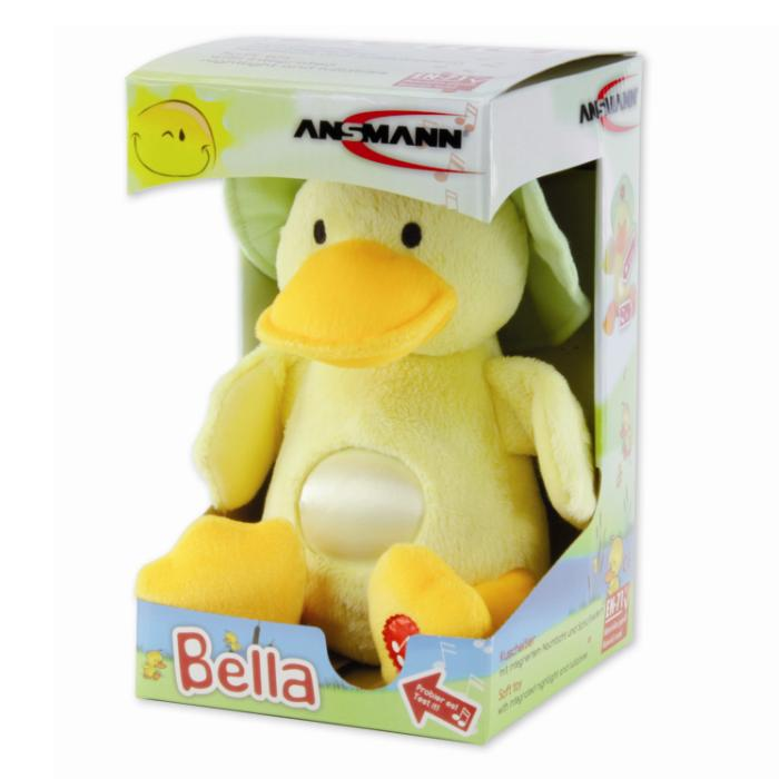 BELLA (Duck) ANSMANN Baby Cuddly Plush Nightlight & Lullaby Toy