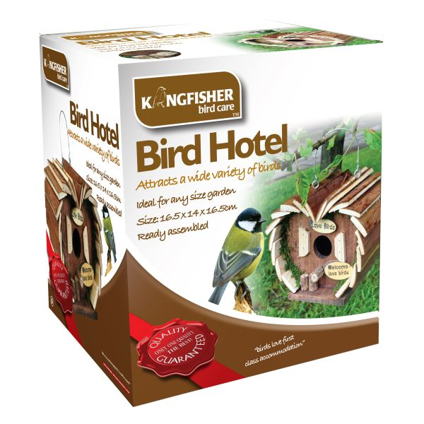 Bird Hotel - Wooden Hanging Box Home For Wild Birds Kingfisher Bird Care