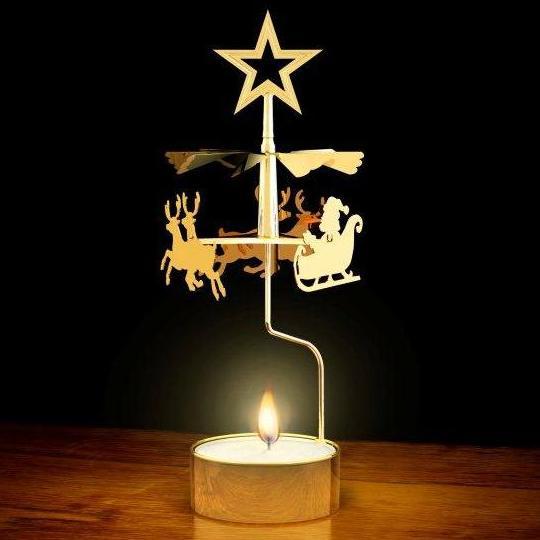 Brass Christmas Carousel Original Swedish Angel Chimes