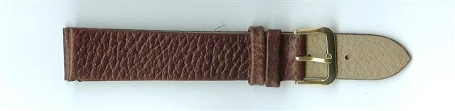 Brown Skin Print Leather Watch Strap 18mm (Gold Buckle)