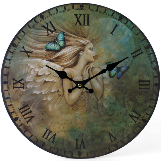 Celtic Angel 43313 -  Jessica Galbreth Large Rustic Retro Kitchen Wall Clock 34cm