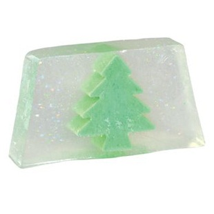 Christmas Tree Glitter Snowmusk Glycerin Soap Slice - Bath Bubble & Beyond 100g