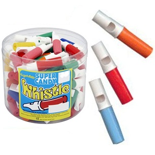 Coloured Whistles Candy Refs - Swizzels Matlow Sweets