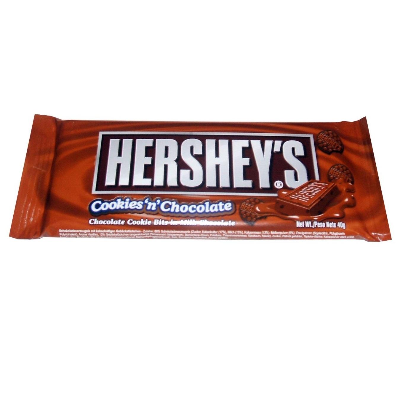Cookies N Chocolate Hersheys American Candy Milk Chocolate Bar 40g