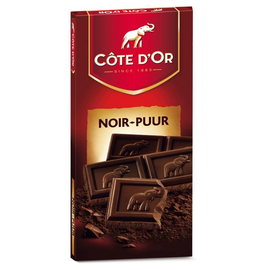 Dark Noir Puur Chocolate Bar Cote D Or Belgian