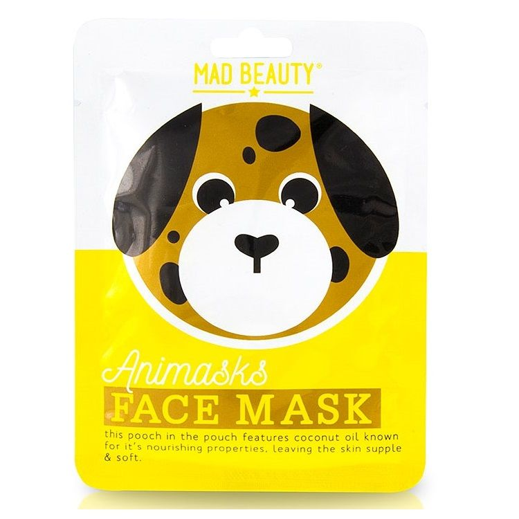 Dog Coconut Animals Fun Face Mask 25ml Animasks - Mad Beauty