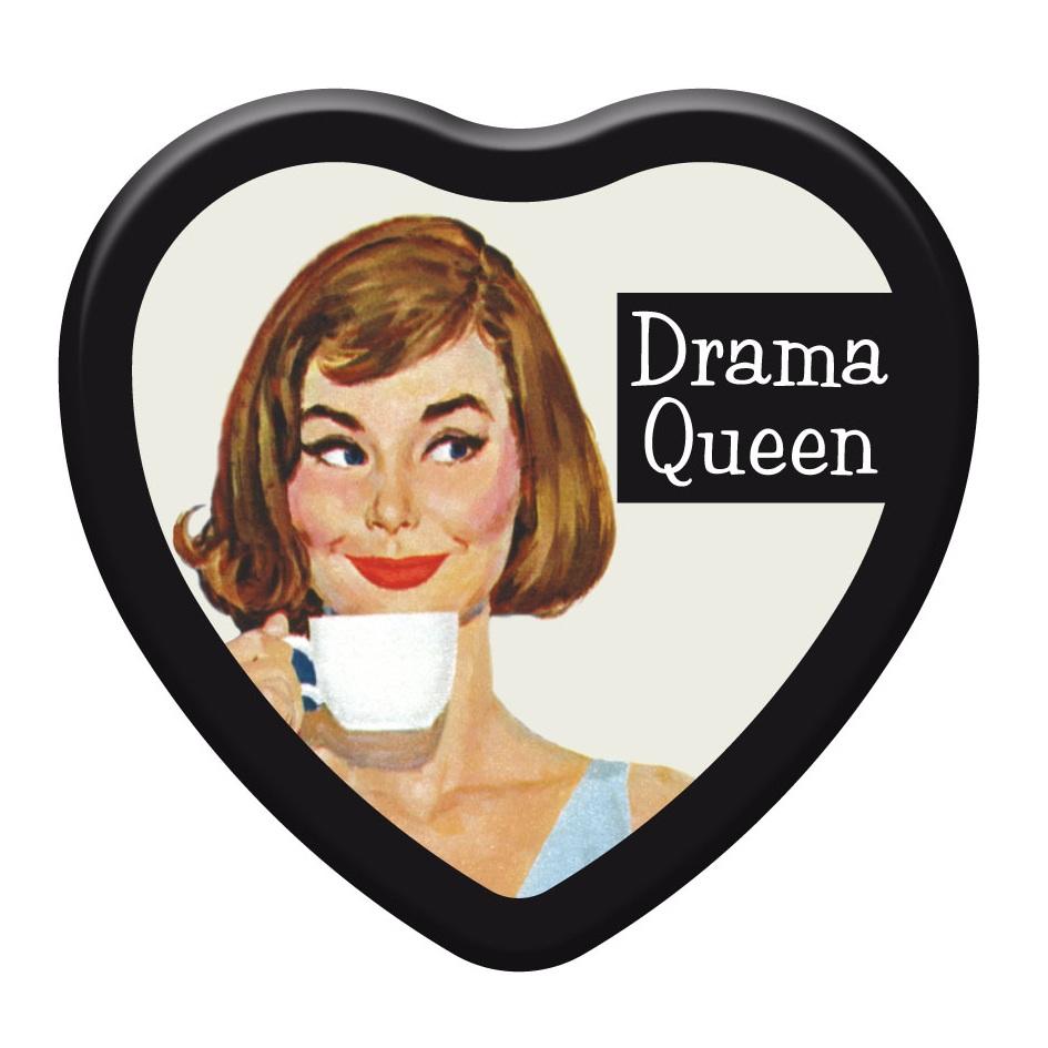 Drama Queen Ephemera Retro Heart Strawberry Glossy Lip