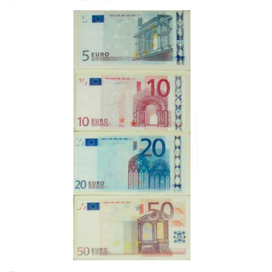 euro note money novelty erasers realistic 5 10 20 50 notes set of 4. Black Bedroom Furniture Sets. Home Design Ideas
